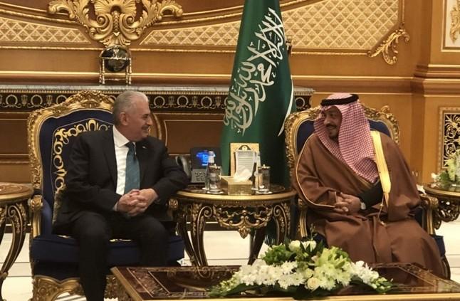 رئيس الوزراء التركي يصل الرياض