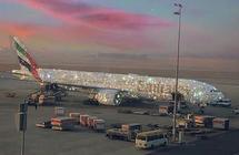 """""""طيران الإمارات"""" تكشف حقيقة الطائرة المرصعة بالألماس"""