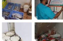 بلدية شرق الدمام: مصادرة 150 كلجم أسماك ومواد غذائية فاسدة من احدى المنشآت الغذائية المخالفة