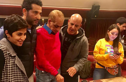 بالصور- عمرو سعد ومحمد لطفي وروبي يحتفلون بعيد ميلاد السبكينهال ناصر