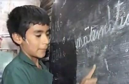 بالفيديو: طفل بعمر 12 عاماً يؤسس مدرسته الخاصة