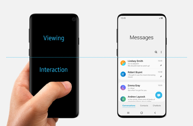 مقالة من سامسونج حول واجهة One UI تكشف لنا من دون قصد عن تصميم Galaxy S10 - إلكتروني