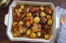 صينية الدجاج والبطاطا في الفرن