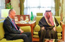 أمير منطقة الرياض يستقبل سفير سويسرا لدى المملكة