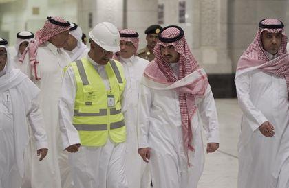 الأمير بدر بن سلطان يتفقد غرفة عمليات أمن المسجد الحرام » صحيفة صراحة الالكترونية
