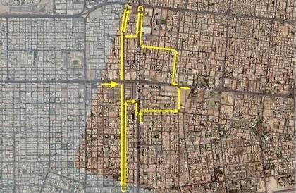 """""""أمانة جدة"""": إغلاق طريق الخدمة في """"شارع التحلية"""" عند تقاطعه مع طريق """"المدينة"""""""