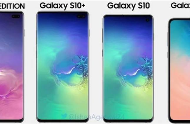 بعض خلفيات الشاشة الخاصة بهواتف Galaxy S10 متوفرة للتحميل