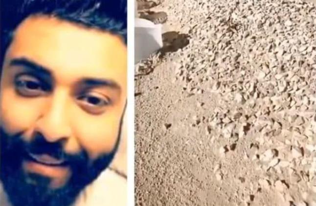 شاهد: لحظات مؤثرة لـ محمد الموسى من أمام قبر والدته