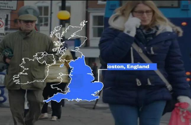 ما مدى قلق سكان بلايناوغوينت وبوسطن في المملكة المتحدة إزاء البريكست