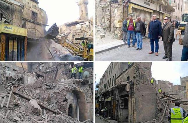 السلطات المصرية تهدم مبنى أثرياً يعود لعصر المماليك