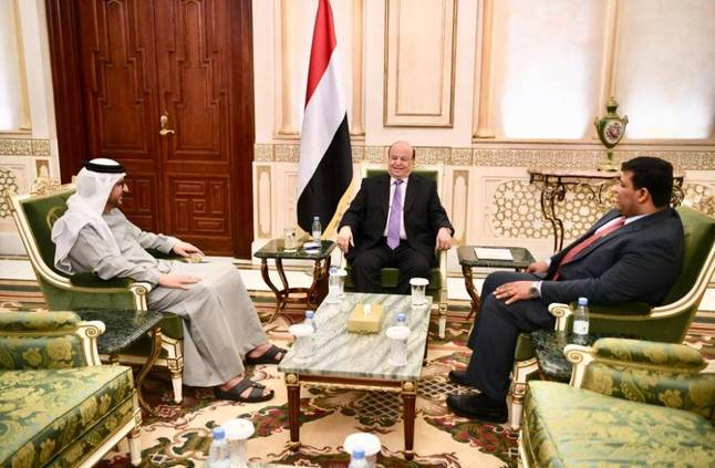 الرئيس اليمني يشيد بتضحيات الإمارات ضمن قوات التحالف العربي