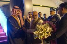 ولي العهد يصل الهند في زيارة رسمية