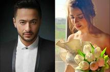 """بالصور- رانيا منصور بفستان زفافها على حمادة هلال في """"ابن أصول""""رحيم ترك"""