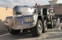 تعرف بـ الوحش.. شاهد: أغرب سيارة يمتلكها أحد أعضاء الأسرة الحاكمة في أبو ظبي