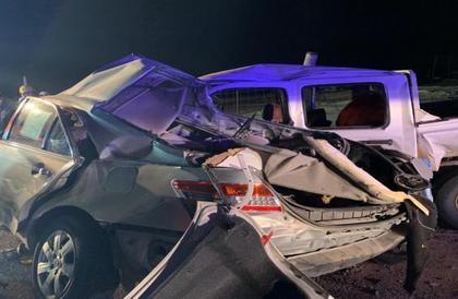 وفاة شخصين في حادث مروع على طريق المزاحمية