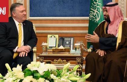 وزير الخارجية الأمريكي يشكر ولي العهد السعودي ويناقش معه حقوق الإنسان