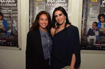 """بالصور: هند صبري ولبلبة مع نادين لبكي بالعرض الخاص لـ""""كفر ناحوم""""  في مصر FilFan"""
