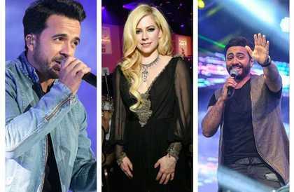استمع إلى أغنية  أفريل لافين مع تامر حسني وحسين الجسمي وأصالةأحمد حتحوت