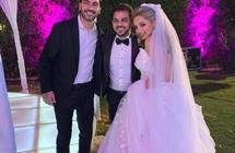 بالفيديو- رقص مي حلمي ومحمد رشاد بحفل زفافهما على أغنية هشام عباسرحيم ترك