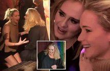 بالفيديو: جينيفر لورانس تنهال بالضرب على صديقتها أديل في نادٍ ليلي