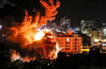 غارات إسرائيلية على قطاع غزة وسقوط صاروخ أطلق من القطاع داخل الأراضي الإسرائيلية
