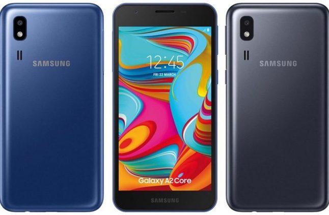 الإعلان رسميًا عن الهاتف Galaxy A2 Core، ويأتي مسبقًا مع نظام Android 9 Pie Go Edition - إلكتروني