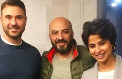 """صورة- لأول مرة أحمد عز وروبي معا في مسرحية """"علاء الدين""""رحيم ترك"""