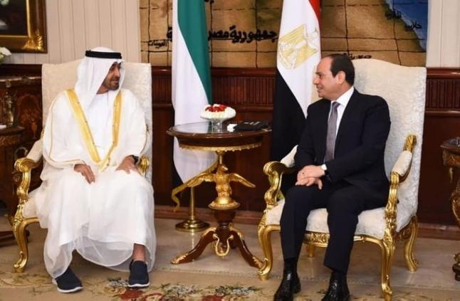 السيسي ومحمد بن زايد: تنسيق كامل للتصدي للتدخلات في المنطقة