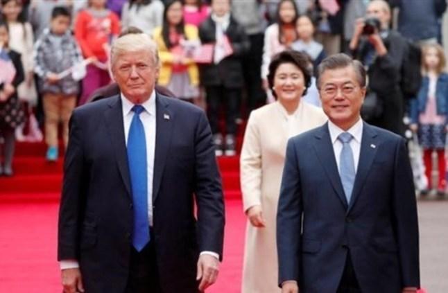 ترامب يزور كوريا الجنوبية لبحث ترسانة كوريا الشمالية النووية