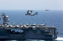 """شاهد: بعد تحذير """"ترامب"""" لإيران.. أمريكا تنشر فيديو لمناورات عسكرية في بحر العرب"""