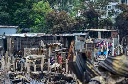 بنغلادش : حريق في حي عشوائي يشرد الآلاف