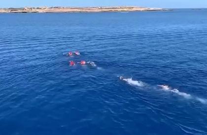 شاهد: مهاجرون يهربون سباحة من سفينة الإنقاذ العالقة في إيطاليا