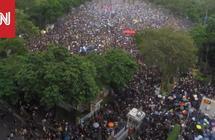 بتقنية الفاصل الزمني.. احتجاجات هونغ كونغ تتجاوز 1,7 مليون شخص