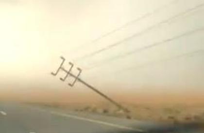 """""""السعودية للكهرباء"""" تعتذر لانقطاع الخدمة عن بعض المشتركين بالليث جراء العاصفة المطرية"""