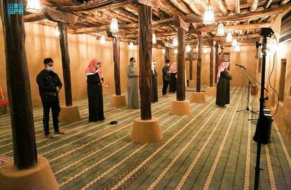 شاهد.. مسجد الأطاولة التاريخي بعد تطويره ضمن مشروع الأمير محمد بن سلمان لتأهيل المساجد التاريخية (فيديو وصور)