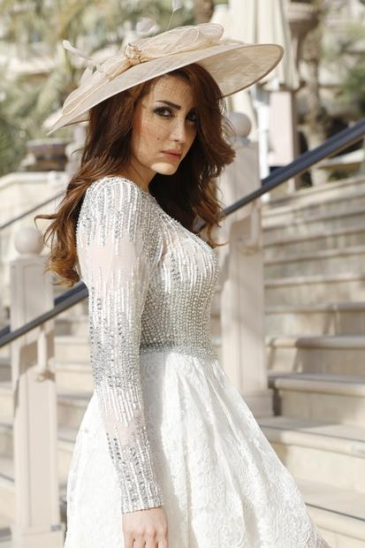 نسرين طافش من مواليد 15 فبراير 1982.. ممثلة ومغنية فلسطينية الجنسية