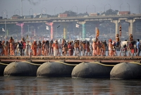 """يقام المهرجان مرة كل 12 عام في مدينة """"الله آباد"""" التي تقع شرق الهند"""