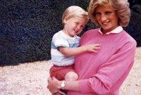 الأميرة ديانا مع أبنائها الأمير وليام والأمير هاري