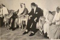 تم فيه استقبال الوفود الخارجية ورؤساء الدول كالرئيس جمال عبد الناصر رئيس مصر السابق والملك حسين ملك الأردن السابق وشاه إيران