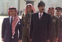 صدام مع الملك الحسين ملك الأردن