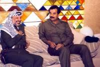 صدام مع ياسر عرفات الرئيس الفلسطيني