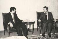 مع الرئيس السوري حافظ الأسد