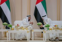 حاكم أبو ظبي برفقة حاكم دبي