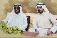 صور لمنصور بن أحمد آل ثاني مع الشيخ زايد حاكم الإمارات