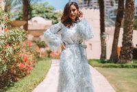 درست التسويق ولكنها تميزت في مجال الموضة بإسلوبها الذي يجمع بين الأزياء الشرقية والغربية معًا
