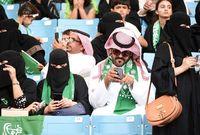وإيمانًا بالحريات تم السماح للنساء في السعودية أيضًا بدخول الملاعب الرياضية ومشاهدة المبارايات، وكان أول حضور لهن في المدرجات خلال لقاء الأهلي والباطن في الجوهرة جدة
