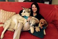"""من المعروف عن """"هازال"""" أنها مغرمة بالحيوانات وبشكل خاص الكلاب فهي تمتلك أكثر من واحد في منزلها وتشارك جمهورها صورها معاهم علي مواقع التواصل الاجتماعي"""
