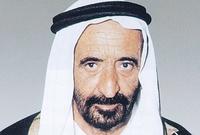 الشيخ راشد بن سعيد آل مكتوم،  حاكم إمارة دبي منذ 9 سبتمبر 1958 وحتى وفاته في 7 أكتوبر 1990