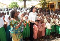 تم منحها وسام سفيرة النوايا الحسنة للسلام