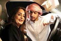 لقطة لها مع ابنها أحمد